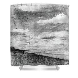 Walk Alone Shower Curtain