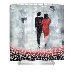 Walk In The Garden Shower Curtain by Raymond Doward