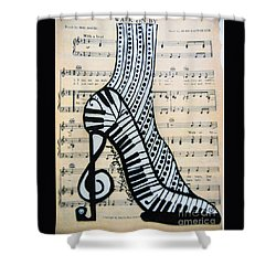 Walk On By Shower Curtain
