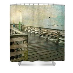 Walk On By Shower Curtain by Diana Angstadt