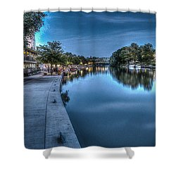 Walk On The Canal Shower Curtain