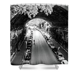 Shower Curtain featuring the photograph Walk The Tunnel by Perry Webster