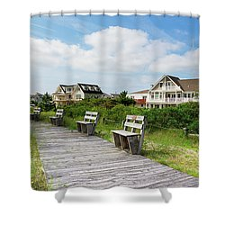 Walk Through The Dunes Shower Curtain