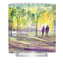 Walk Through The Woods Shower Curtain