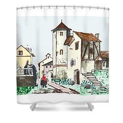 Walk Through Town Shower Curtain