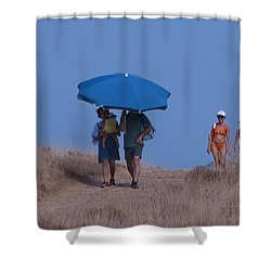 Walk To The Beach Shower Curtain