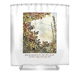 Walk To The High Hills Shower Curtain