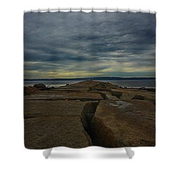 Walk To The Sea Shower Curtain