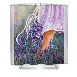 Walk Shower Curtain by Vesna Martinjak