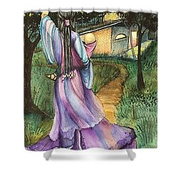Walk With My Baby Shower Curtain