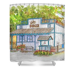 Walker Burger In Walker, California Shower Curtain