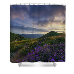 Shower Curtain featuring the photograph Walker Canyon by Tassanee Angiolillo