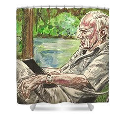Walker Percy At The Lake Shower Curtain