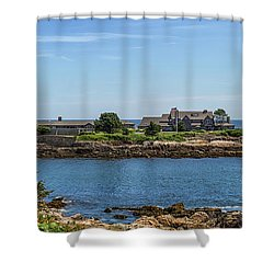 Walkers Point Kennebunkport Maine Shower Curtain by Brian MacLean
