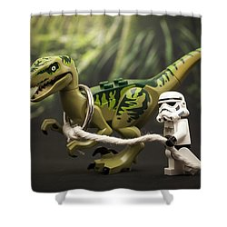Walkies Shower Curtain