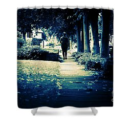 Walking A Lonely Path Shower Curtain