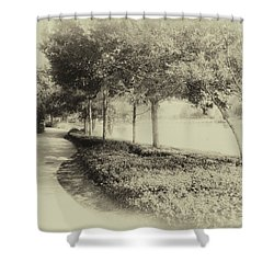Walking At Old Key West Resort Wdw In Heirloom 02 Mp Shower Curtain