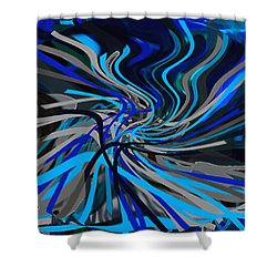 Walking Between Heaven And Earth. Shower Curtain