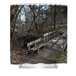 Walking Bridge Shower Curtain