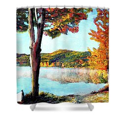 A Walk Down Lake Champlain Shower Curtain