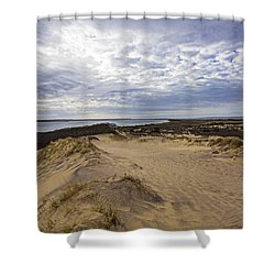 Walking Dunes Montauk Shower Curtain