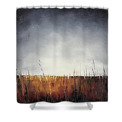 Walking, I Am Listening To A Deeper Way Shower Curtain by Carolyn Doe