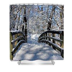 Walking In A Winter Wonderland Shower Curtain by Kristin Elmquist