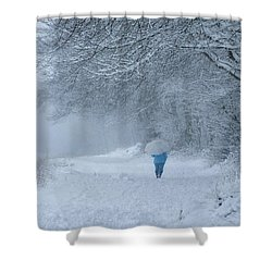 Walking In The Snow Shower Curtain