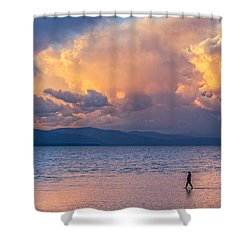 Walking In The South Shore Water Shower Curtain