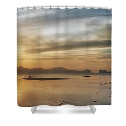 Walking In The Sun Shower Curtain