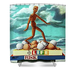 Walking On Eggshells Imaginative Realistic Painting Shower Curtain