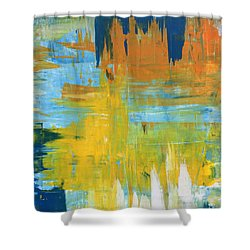 Walking On Sunshine - 48x48 Huge Original Painting Art Abstract Artist Shower Curtain