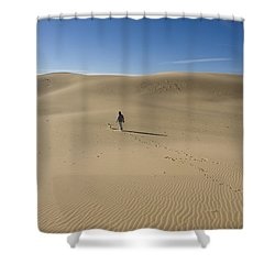 Walking On The Sand Shower Curtain by Tara Lynn