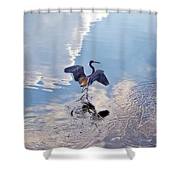 Walking On Water Shower Curtain by Carolyn Marshall