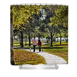 Walking Park Shower Curtain