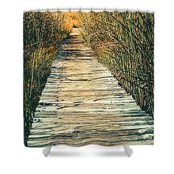 Shower Curtain featuring the photograph Walking Path by Alexey Stiop