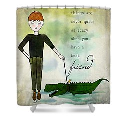 Walking Reginald From Ginkelmier Land Shower Curtain