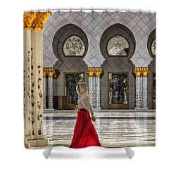 Walking Temple Shower Curtain by John Swartz