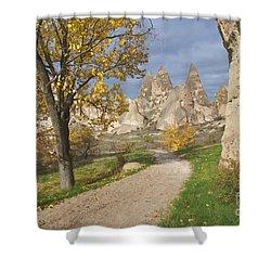Walking The Cappadocia Shower Curtain by Yuri Santin