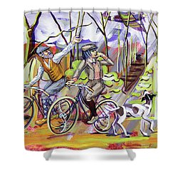 Walking The Dog 1 Shower Curtain