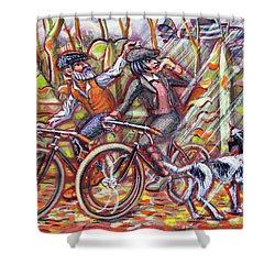 Walking The Dog 2 Shower Curtain