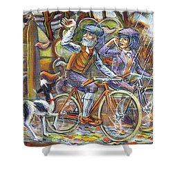 Walking The Dog 3 Shower Curtain