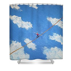 Walking The Line Shower Curtain