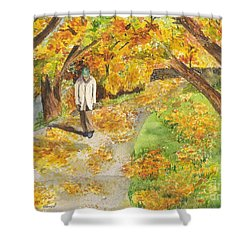 Walking The Truckee River Shower Curtain
