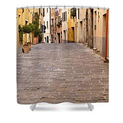 Walking Through Montepulciano Shower Curtain by Rae Tucker