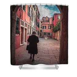 Walking Through Time - Venice, Italy Shower Curtain