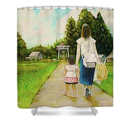Walking To The Shrine Shower Curtain