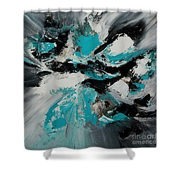 Walking Wave-3 Shower Curtain