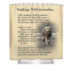 Walking With Grandma Shower Curtain