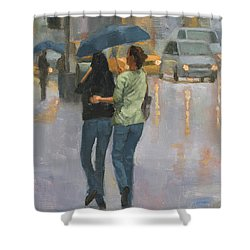 Walking With You Shower Curtain
